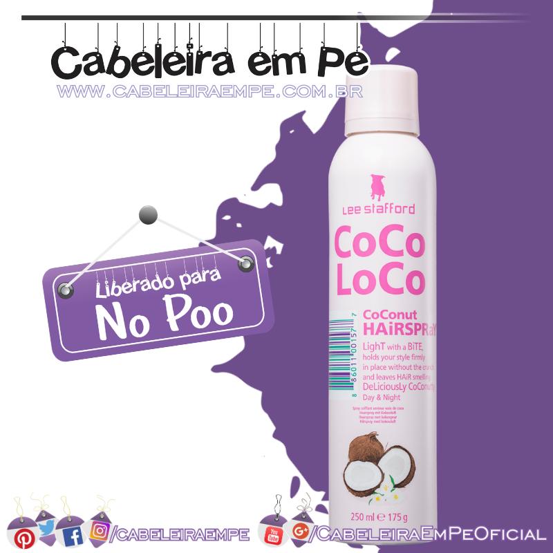 Spray Fixador Coco Loco Coconut - Lee Stafford (No Poo)