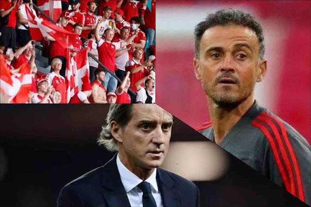 Cegah Suporter dari Denmark, Italia vs Spanyol Diwarnai Perebutan Penguasaan Bola
