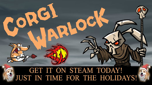 My game, Corgi Warlock, is out on Steam today!