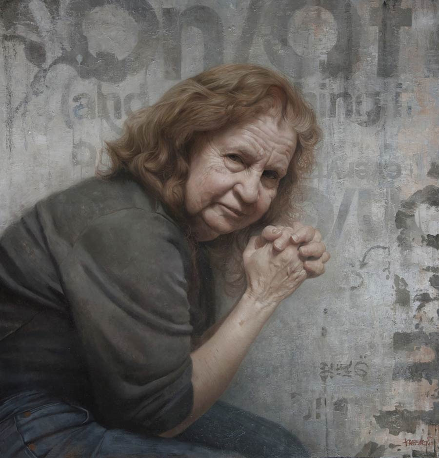 12-My-Mom-David-Kassan-Painting-Portraits-to-bring-out-the-Emotions-www-designstack-co