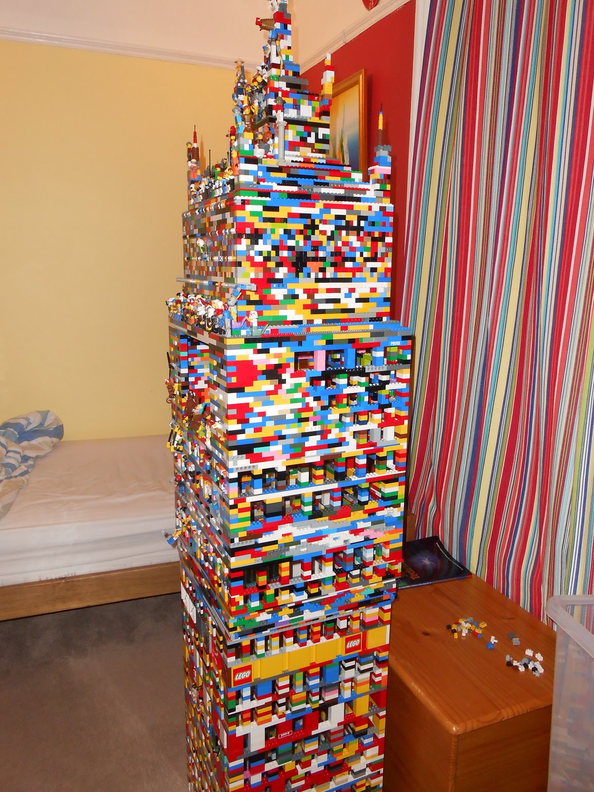 super tall lego tower big enough to fit a human inside