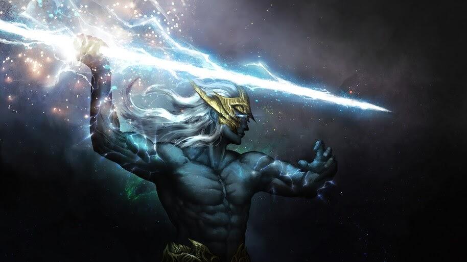 Zeus, Lightning, God, Fantasy, 4K, #6.2526