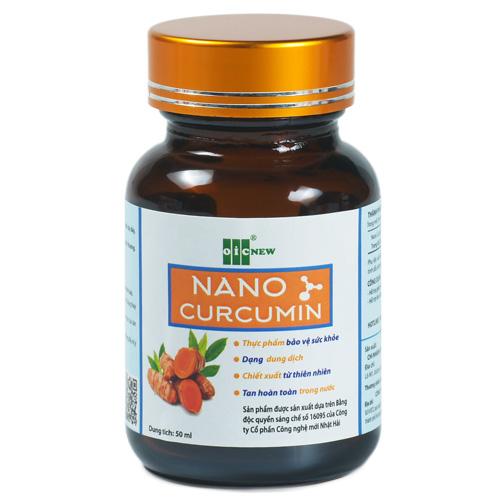 [Mua 3 tặng 1] Liquid Nano Curcumin OIC, bảo vệ và làm lành các tổn thương niêm mạc dạ dày