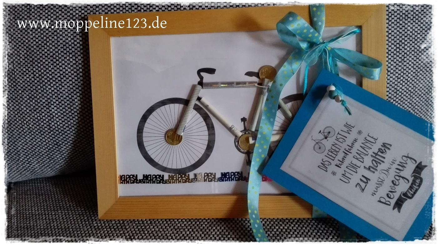 moppeline123 selbstgemacht geldgeschenk fahrrad. Black Bedroom Furniture Sets. Home Design Ideas