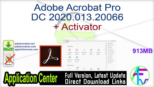 Adobe Acrobat Pro DC 2020.013.20066 + Activator