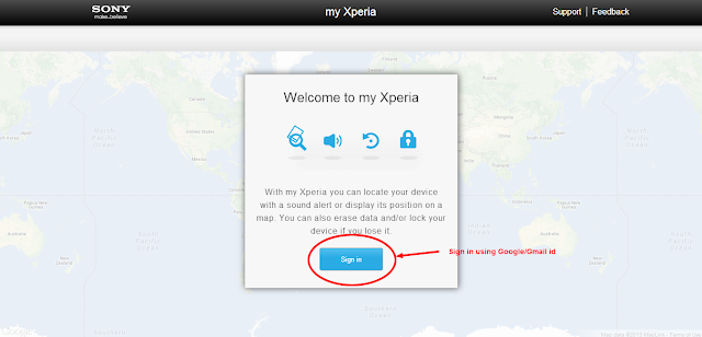 'my Xperia' remote security App; another useful service from Sony for Xperia phones from 2012 onwards