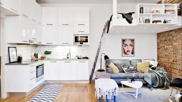 apartamento pequeno com mezanino-kitinete