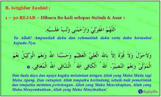 Istighfar tauhid di bulan Rejab