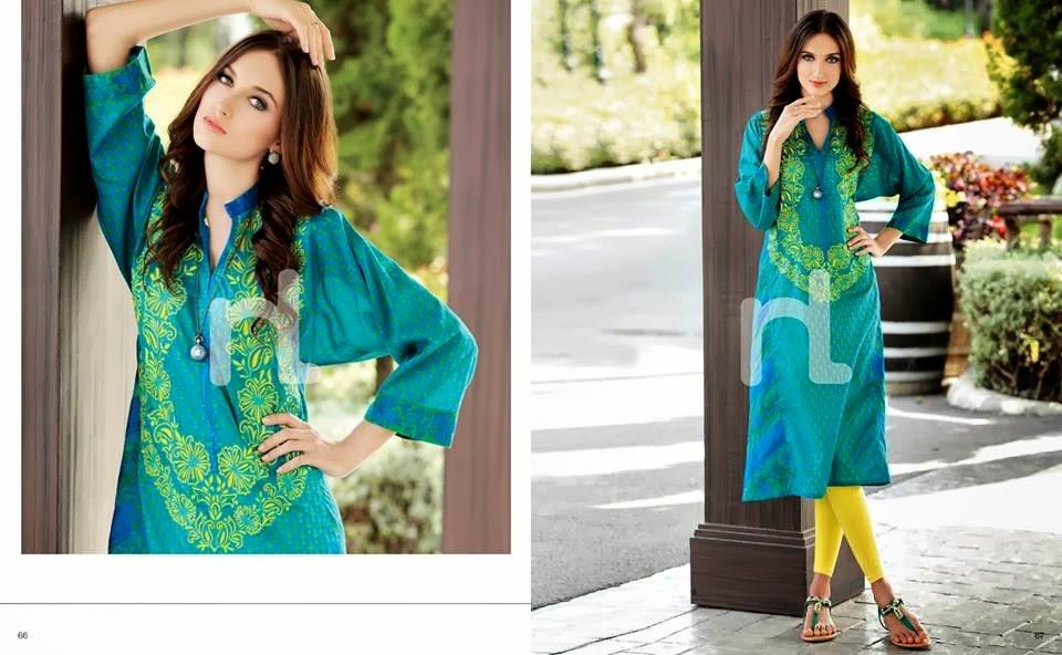 Nishat Linen Pret Summer www.fashionwearstyle.com