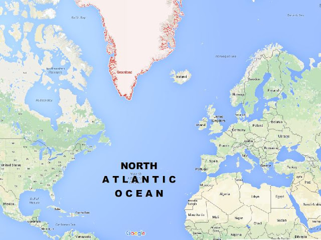 North Atlantic Ocean Map