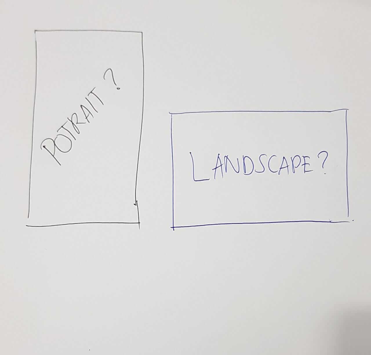 Landscape vs portrait format video