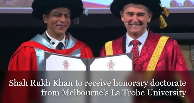 Shah Rukh Khan to receive honorary doctorate from Melbourne's La Trobe University
