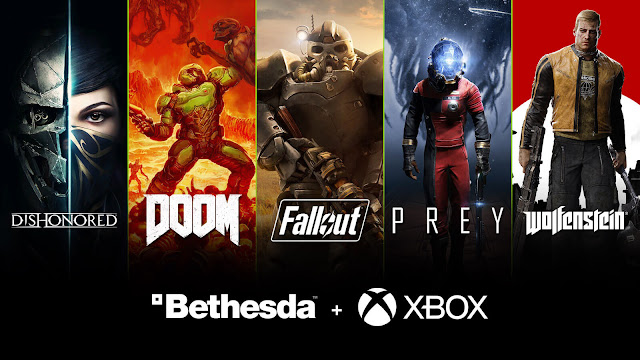 microsoft buyout bethesda games pc game pass xbox exclusive dishonored doom fallout prey starfield elder scrolls wolfenstein
