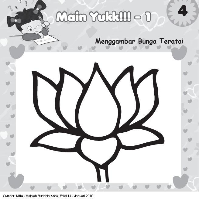 For Sharing Knowledge Mewarnai Bunga Teratai