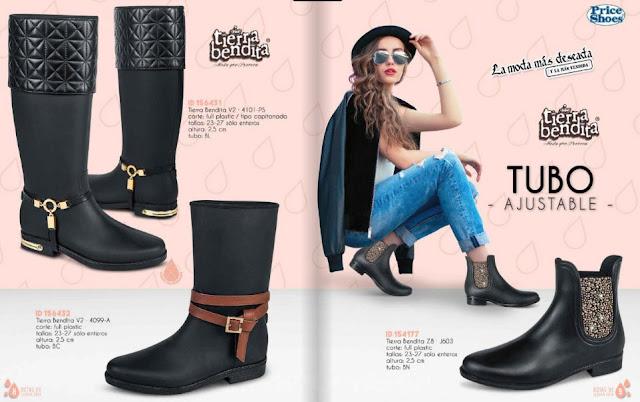 botines de lluvia de moda damas