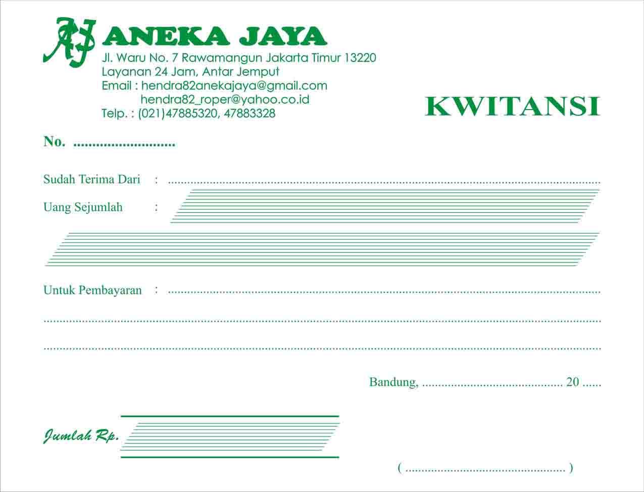 KWITANsi INVOICE BON SELURUH INDONESIA Pusat Stempel - Invoice jasa