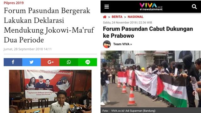 Forum Pasundan Cabut Dukungan ke Prabowo? Loh Mereka kan Pendukung Jokowi