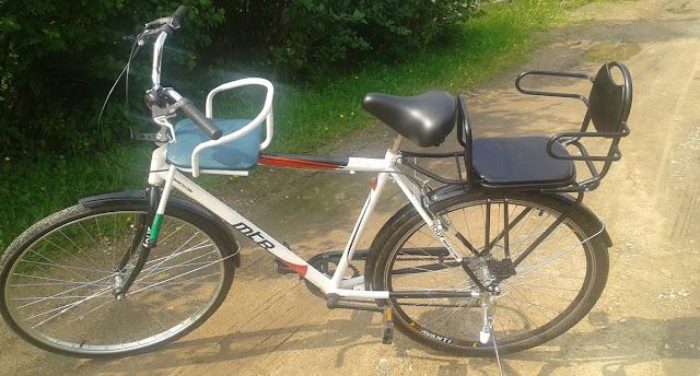 самодельное детское велокресло