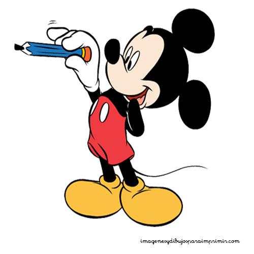 Mickey para imprimir y recortar | Imagenes y dibujos para ...