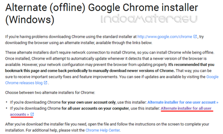 Cara Download Google Chrome Offline Installer