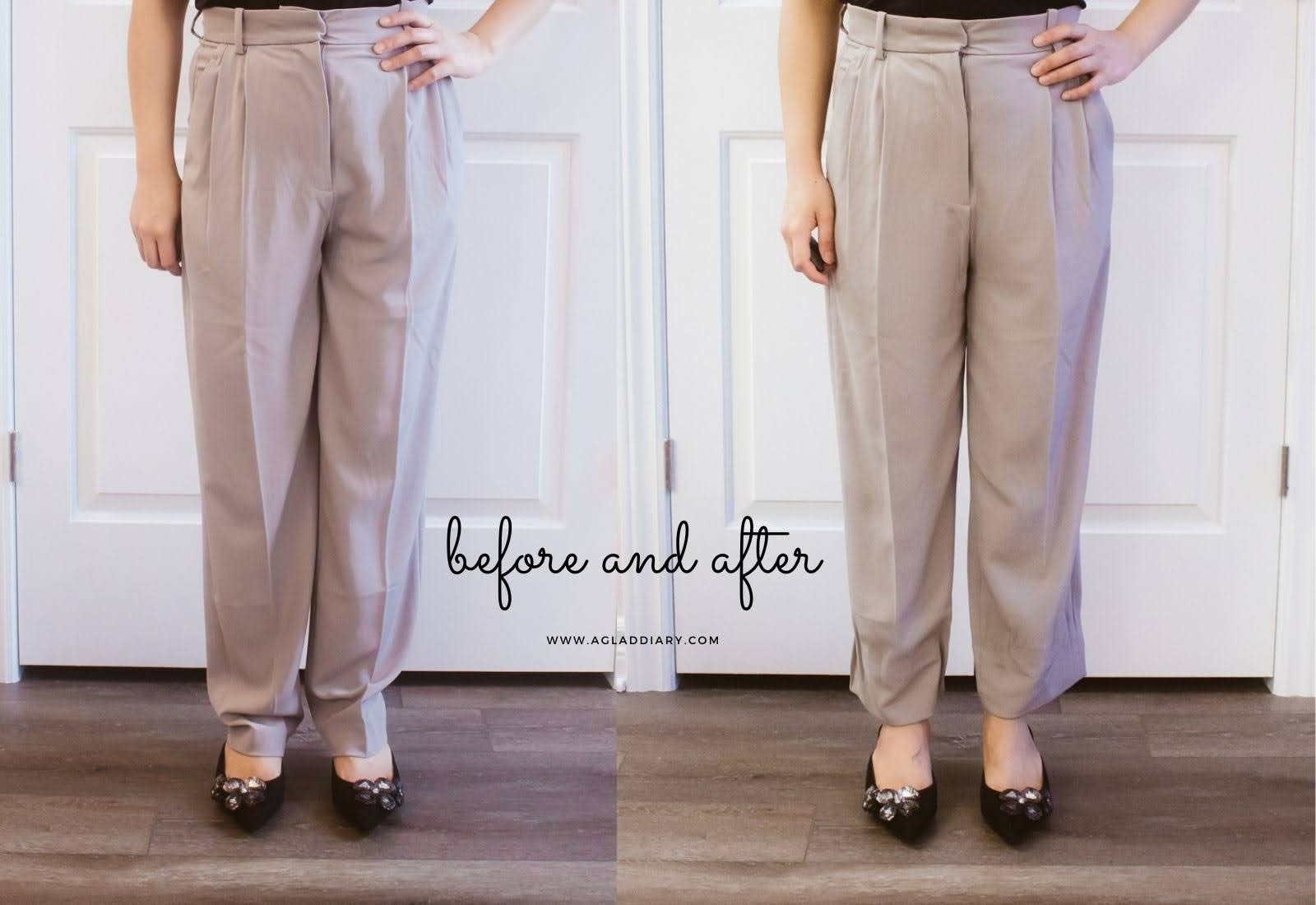 shorten pants without sewing