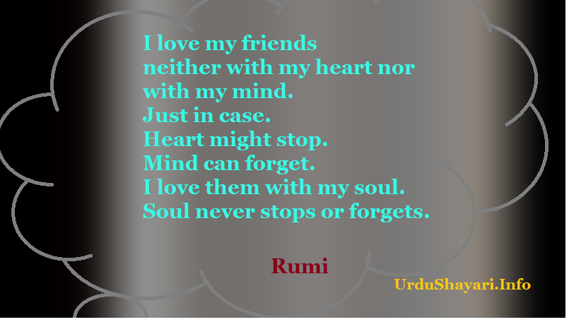 Great Rumi quotes on love friend and soul. deep quotation, beautiful image, English text