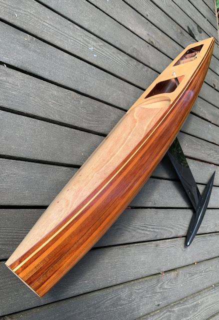 Wooden Vickers V8 IOM RC Sailboat