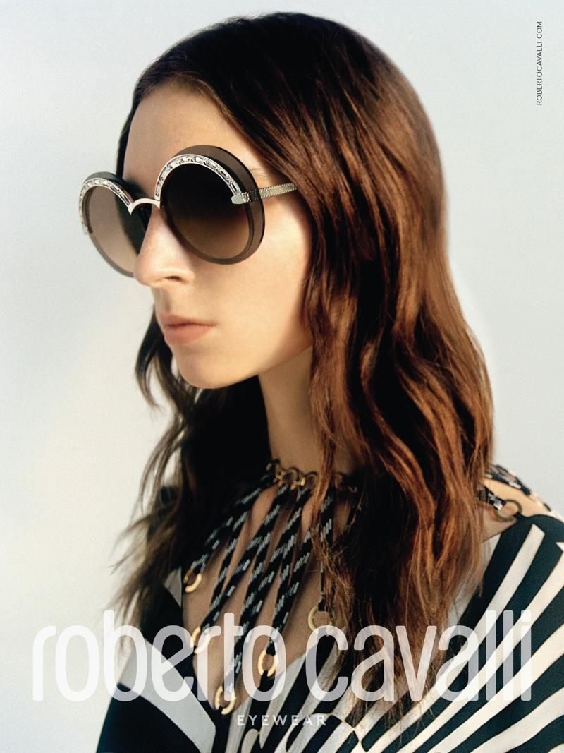 Model Ansley Gulielmi appears in Roberto Cavalli spring-summer 2020 campaign