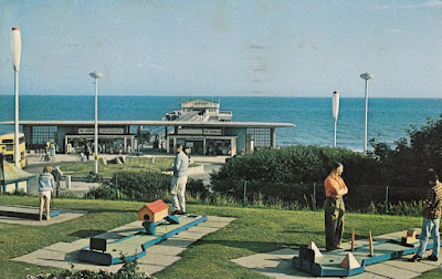 A Boscombe Crazy Golf postcard. JH 40 Plastichrome by Colourpicture. Pub. by J. Hammersley, Boscombe, Bournemouth. Posted in 1967