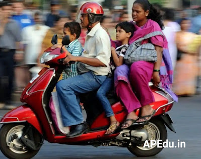 Do you take your children the same way?  So the fine is mandatory under the new Motor Vehicle Act.