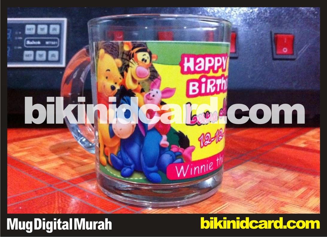 cetak mug digital murah bening