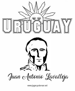dibujo para colorear lavalleja uruguay