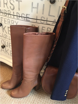 Wallis Tan Leather High Leg Boots, My Midlife Fashion