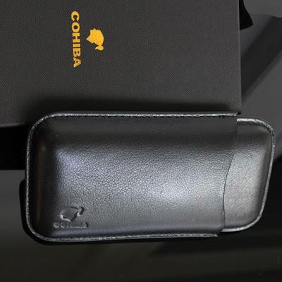 Mẫu bao da đựng xì gà màu đen 3 điếu Cohiba 1301L cao cấp