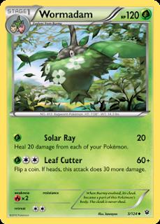 Wormadam Fates Collide Pokemon Card