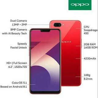 Spesifikasi dan Harga Oppo A3s Agustus 2019