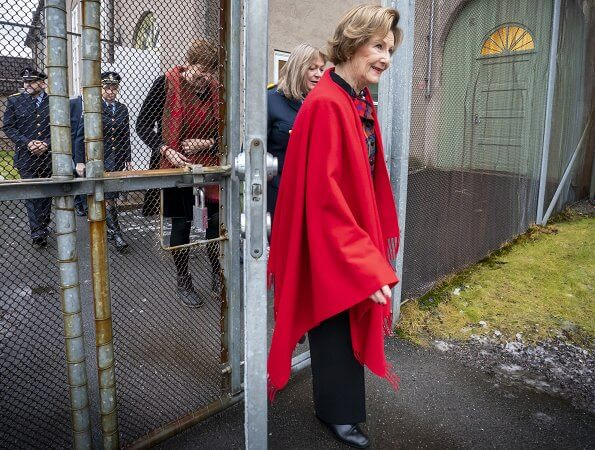 Queen Sonja of Norway visited Bredtveit Women's Prison and Detention Center in Oslo
