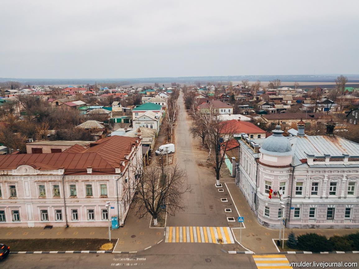 Провинциальный городок Павловск с высоты птичьего полёта