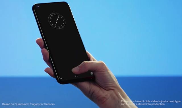 Ultrasonic Under Display Fingerprint Scanner