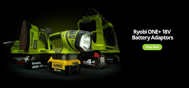 Übersicht Batterieadapter Ryobi