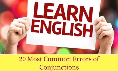 20 Most Common Errors of Conjunctions | BankExamsToday