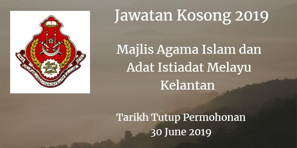 Jawatan Kosong MAIK 30 June 2019