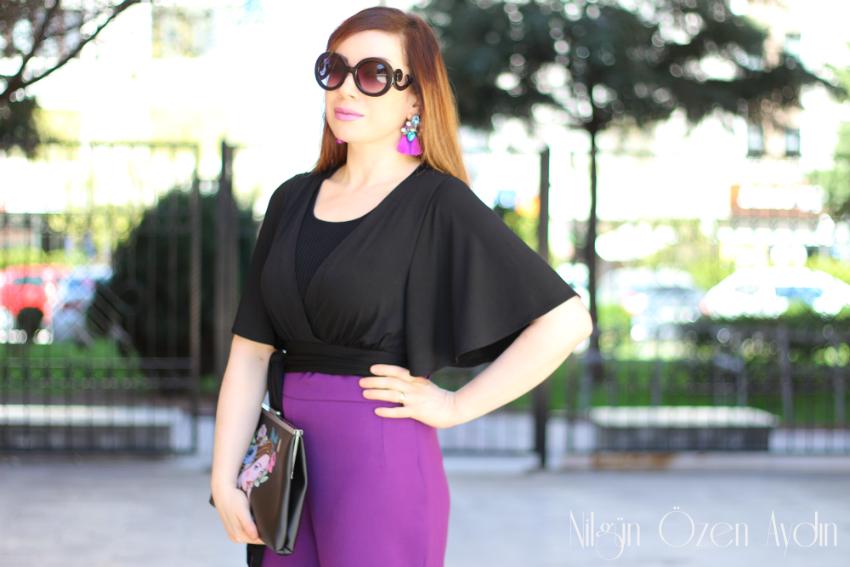 alışveriş-moda blogu-kroket bluz-bol paça uzun pantolonlar-clutch-Diyetisyen Ferin Batman-Harvey Nicholas Lounge
