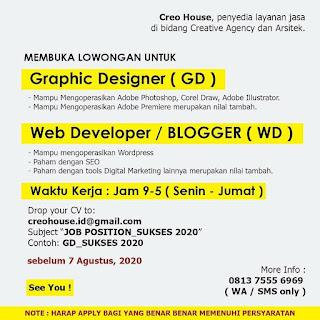 Graphic Designer dan Blogger di Creo House