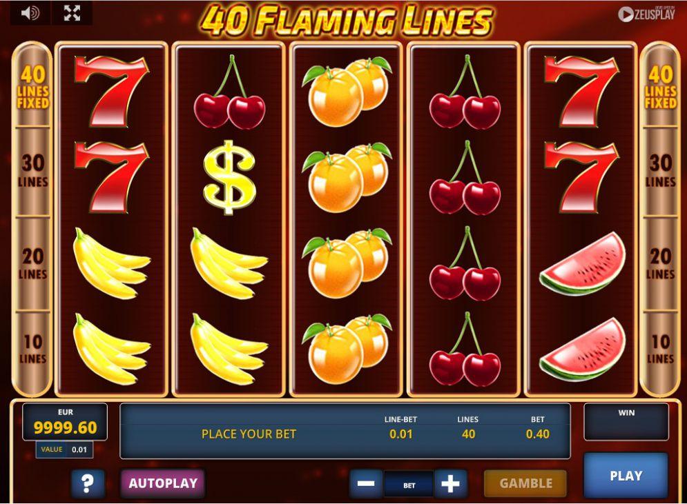 Jucat acum 40 Flaming Lines Online