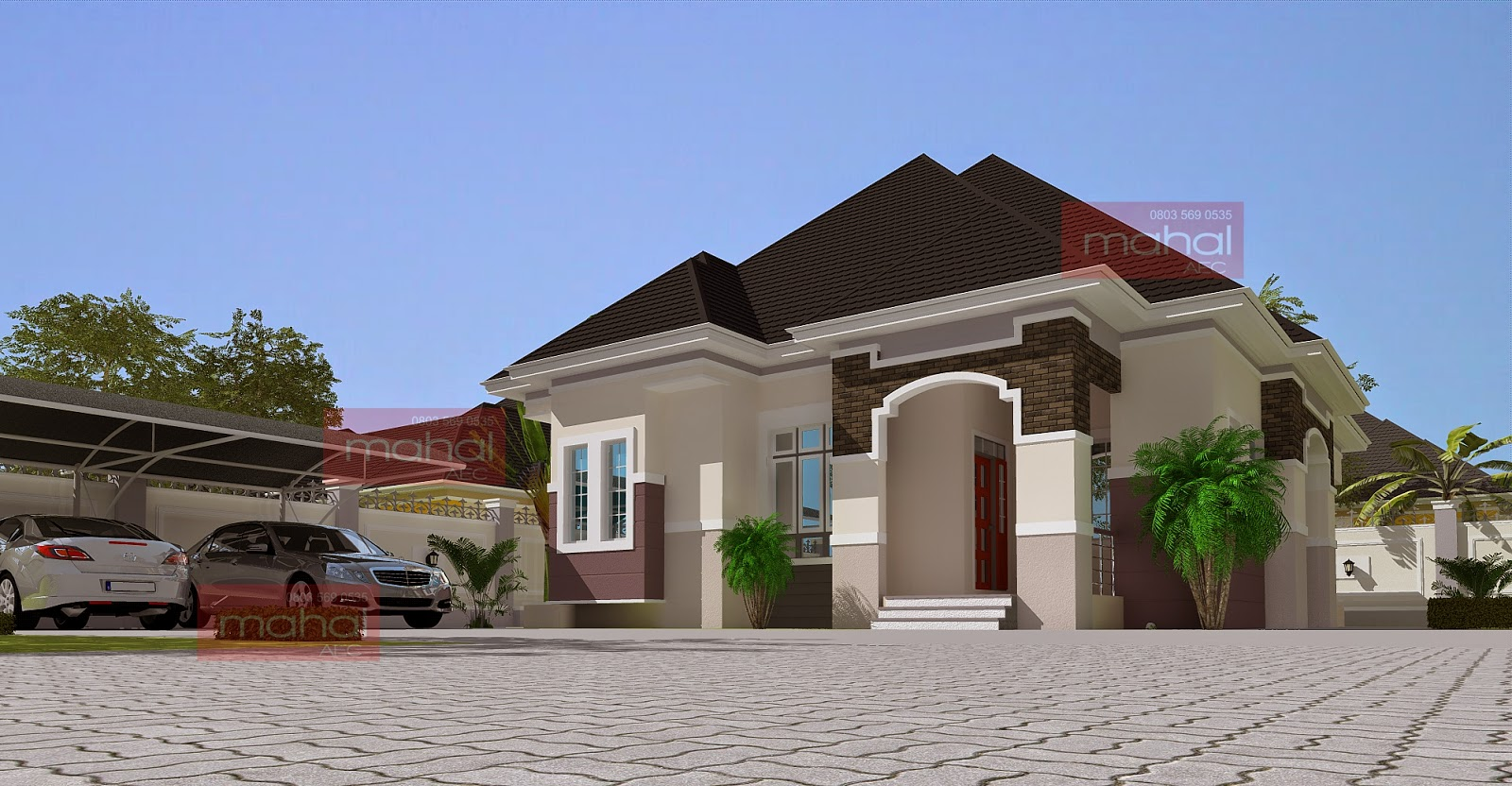 New design bungalows in nigeria for Nigeria house plans