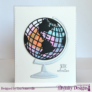 Stamp Set: Adventure Awaits  Custom Dies: Globe & Stand, Double Stitched Rectangles, Circles  Mixed Media Stencil: Bubbles