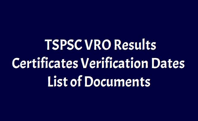 TSPSC VRO Results, Certificates Verification