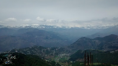 Image of Dhauladhar range in Dalhousie