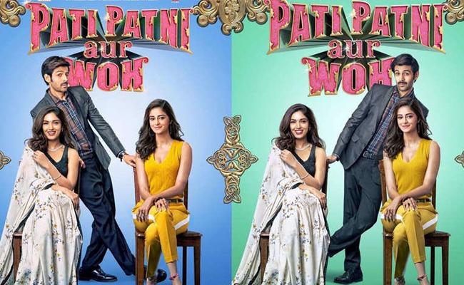Pati Patni Aur Woh review, Pati Patni Aur Woh movie review, Pati Patni Aur Woh, Kartik Aaryan, Bhumi Pednekar, ananya panday